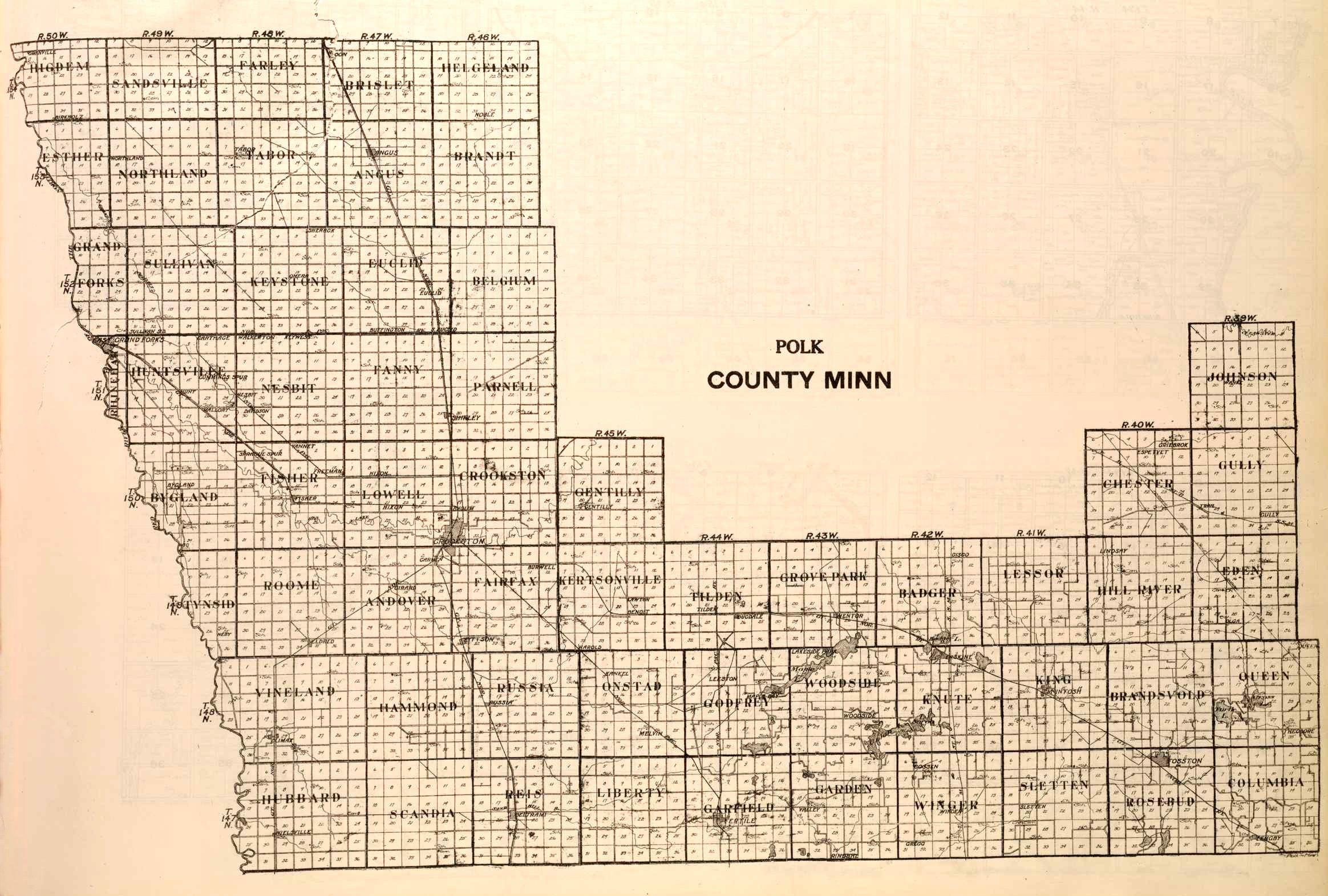 Polk County Minnesota Map - Mn county map