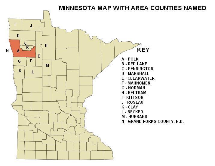 Polk County Minnesota Map
