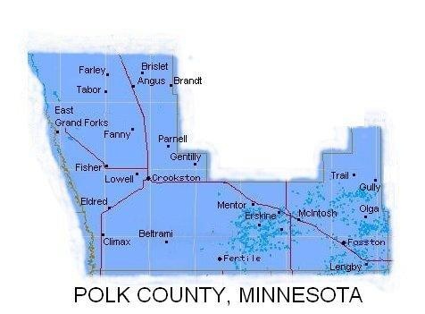 County Minnesota Map.Polk County Minnesota Map
